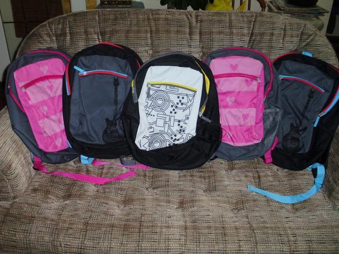 Set of 5 Kids' Elementary School Backpacks