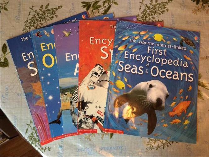 Set of 5 Usborne First Encyclopedia books