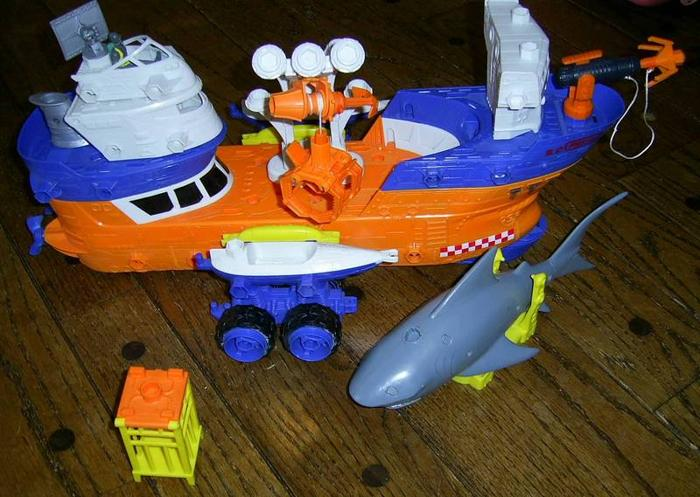 Shark Research Ship toy