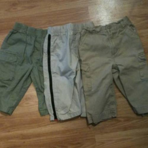 Six pairs of 6-9 month boy pants