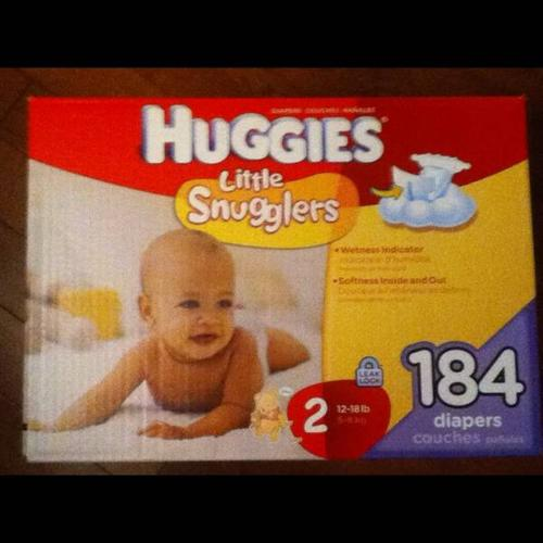 Size 2 Huggie Little Snugglers Diapers