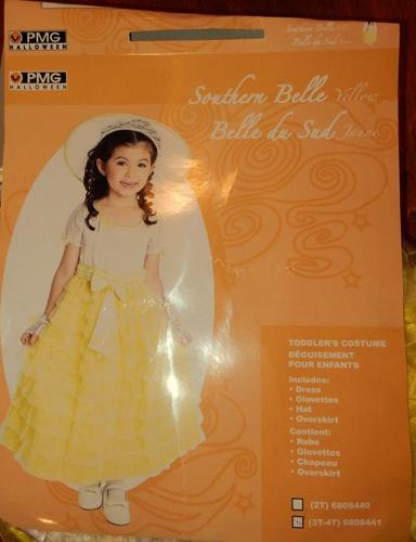 Southern Belle Yellow Dressup Costume  NEW