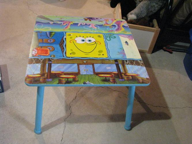 SPONGEBOB WOODEN TABLE CHAIRS For Sale In Calgary Alberta