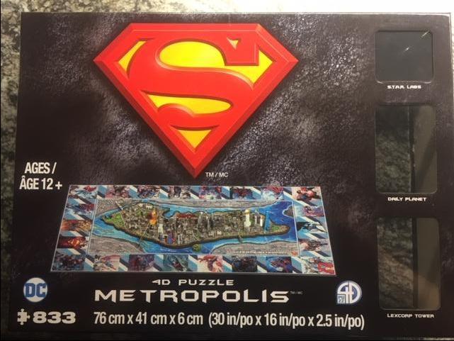Superman 4D Puzzle METROPOLIS