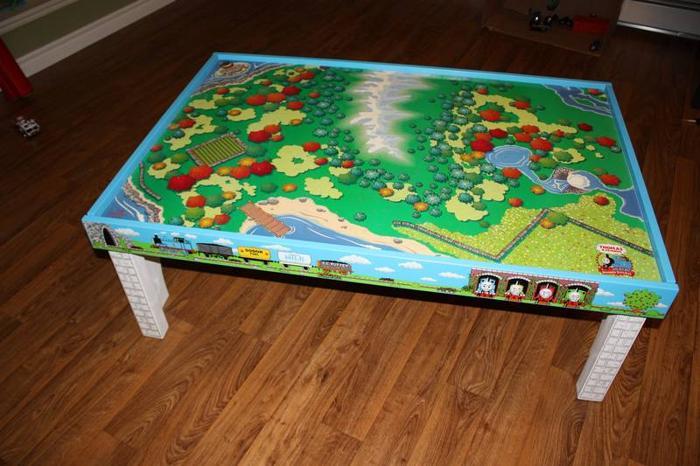 Thomas the tank table, tracks, trains