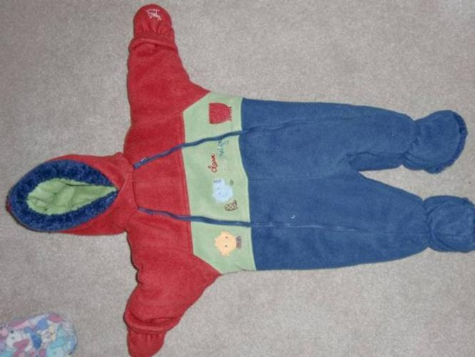 Various Snow Suits 0-6, 0-9 months
