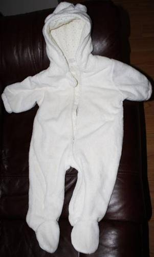 White Childrens Place Sherpa snow suit