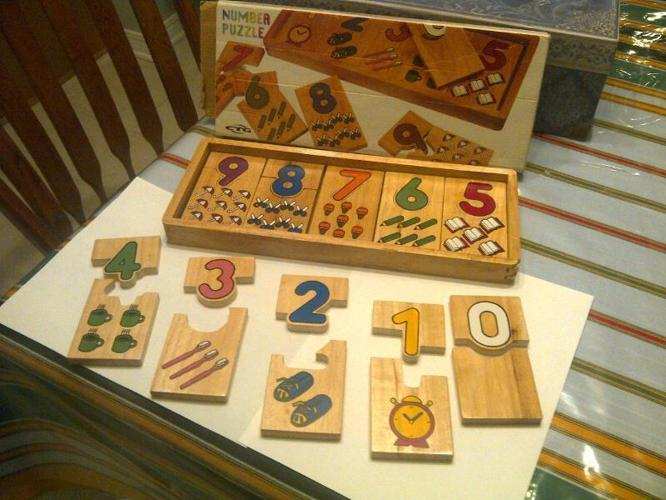 Wood Number Puzzle