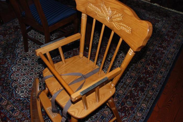 Wooden High Chair / Crib Bumper Rail