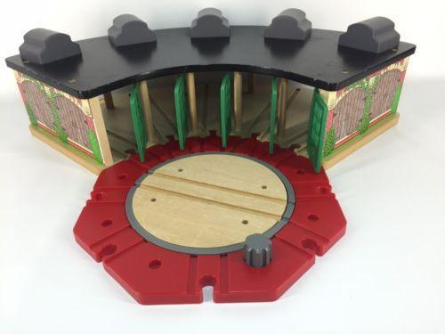 Wooden Train Track, Roundhouse, Rumble Bridge and many Thomas Wooden Trains