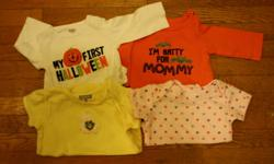 Onesies 3 month, dresses, hats and shoes all 0-3 months. Carters, TCP, Old Navy, Gymboree and Tommy Hilfiger. excellent condition from smoke free home
