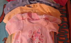 I have 32 pieces of baby girl clothing ranging from newborn to 3 months. There are 9 sleepers, 10 onesies, 1 outfit of four pieces, 1 dress outfit 2 pieces, 1 sleep bag etc. You will get what you see on the photos.  I am selling this as a lot for the low