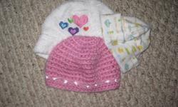 GIRL CLOTHES 26 SLEEPERS 2 ROOT SWEATER DRESSES, 1 LONG SLEEVE ONESIE, 3 HATS 2 swaddling blankets.. WARM ITEMS FOR WINTER CUTE STUFF, no stains MAKE ME AN OFFER FOR ALL THIS AND ITS YOURS!