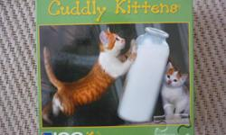 100 Piece Puzzle - Cuddly Kittens 16 in x 11 in - 40.64cm x 27.94cm Located in Barrhaven