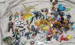 must sell as a lot - $20 106 misc. figures - Ben 10, Bionicle, Mcdonalds, WWF, Pokémon, etc.