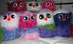 Everyone needs a cute cuddly friend, this one's crochet, stuffed and ready to make you smile....Different color choices.