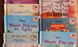 12 hard cover Disney story books in french from the mickey club all popular stories ,