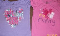 """12 month George shirts. """"I love my mummy"""" """"Cute is my middle name"""" Excellent condition, only worn a few times each. Old Navy Skort - 18-24 month $5 for all"""