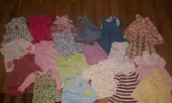 will sell each dress for $5 each or take the lot  for $35. ALL CLEAN AND STAIN FREE.  COMES FROM SMOKE FREE HOME!