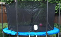 My girls are no longer using our 14 foot Jumpking trampoline. This unit is a high end unit, consisting of heavy duty galvanized frame, heavy duty mesh enclosure, mat and spring cover. I replaced a new mat, enclosure and the spring cover 2 seasons ago and