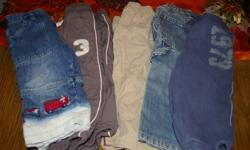 AWESOME DEAL! ALL 40 pieces for 20.00! THAT'S .50 an ITEM! All clothes are worn! From a clean smoke free home.   PIC 1. 18M Children's Place carpenter jeans 18M Cherokee lined track pants 18M Cherokee sweats 18M Children's Place warm lined track pants 18M