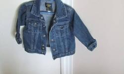 Osh Kosh brand boys 18 month jean jacket     Brand new never worn Snap button front great for fall smoke free home     If you see this ad it is still available.  I can deliver to Kitchener or Woodstock.  See my other ads for more gently used kids clothes