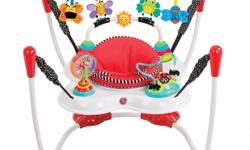 2-in-1 bounce around Inspire the senses Sassy Jumper (model S70011) in good condition. It can be use in activity mode where the baby can bounce and play with the toys around and the seat turns as well. My baby loved it and she could spend hours inside. It