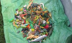 228 Animals and Dinosaurs from 2 inches to 9 inches $45 for the lot will not split up must go as a lot.