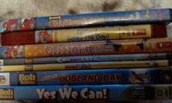 All DVDs are in great condition with no apparent scratches. Still available are 3 Clifford, 4 Bob the builder, 6 Max & Ruby, 8 Franklin and 1 Caillou. Please note a few on the pictures are no longer available. Smoke free, pet friendly home. Located in
