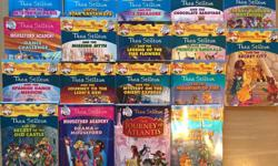 Will sell as a set/lot only, not as individual books. Non-smoking home. Pickup only in Carlingwood area. 18 Thea Stilton Books 3 Creepella Von Cacklefur Books (softcover) 3 Geronimo Stilton Books (softcover) Please see photos for titles If ad is up, they