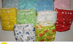 Our diapers are one size fits all 8-33 lbs. For more detailed information please use this link http://www.gigglelife.com/catalog/product_info.php/products_id/32 Order 24 or more diapers now and receive a free Play/Change Mat (Gift Value $27.99). Please