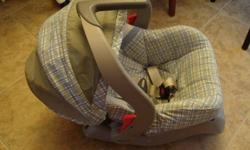 Evenflo Car Seat Infant carrier for up to 25 lbs- with manual- $20 or best offer Microwave Bottle Sterilizer- fits your bottles, sippy cups and in 2 min are sterile!Just add water $15 Fisher Price Infant to Toddler Rocker $25  Can be bouncy chair for baby