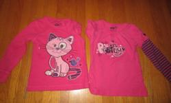 Both shirts are from zellers and are size 4T. Both are in great condition with no rips or stains. ASKING $5.00 for both of them. *Please check out my other ads, I have tons of girls clothing ranging from 6months to size 4T*