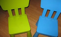 2 Mammut Chairs (1 green and 1blue) Good conditon $10 each ($20) or get BOTH for ONLY $15 ($5 off) can meet in west end of ottawa (kanata) or pickup in Constance Bay