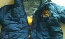 12 months blue Winnie pooh ski pants and jacket with hood This ad was posted with the Kijiji Classifieds app.