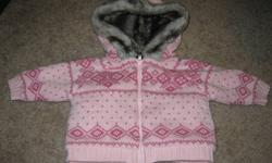 One is pink with grey fur inside and around the hood. The other is light pink velour material with Winnie the Pooh on it. Both for $8 OR $5 each Check out my other ads for more great deals on baby clothes and other items! *buy more than 3 sets of clothes,