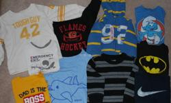 1 Hoodie 3 long sleeve shirts 4 short sleeve shirts 2 pairs of pants Gap, Old Navy, Joe, etc. All are stain and tear free Located in Rocky Ridge NW Check out our other ads as well!