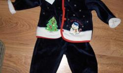 All items are new with tags. Would make great Christmas gifts!!! Please arrange pick up ASAP!!! 3PC Christmas Outfit 3-6 months new with tags Includes Pants, Jacket and Hat - $10 Sears 3PC outfit new with tags 3-6 months - $15 OBO - Now $10 FIRM!!! Fleece