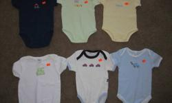All in excellent condition!! First picture - $1.00 each 2nd picture - $1.00 each 3rd picture - top 2 shirts(Childrens place) - $3.00 each. bottom 3 onesies $2.00 each Prices are firm Located in Mckenzie Towne. Please check out all my other ads! **I have