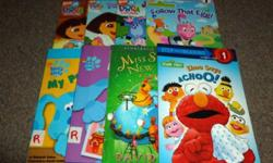 All in excellent condition! 39 books in total. Great for children in preschool or kindergarten! Step 1 books to help children begin to put words together! Includes: Dora the Explorer, Care Bears, Clifford, My Little Pony, Blue's Clues, Backyardagains,