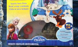 """Frozen"" Playdoh ""sparkly snow dome"" kit. looking for $20.00. literally been played with once. contact Jodi at jodichatfield@live.com or at 780 289-7441."