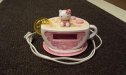 Has night light and AM/FM alarm excellent condition