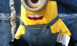"""Minions"" robot walking talking stuffed toy. BRAND NEW! Looking for$30.00, contact Jodi at jodichatfield@live.com or at 780 289-7441"