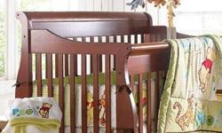 Convertible Crib: This versatile 4-in-1 design converts from a crib to a transitional bed to a day bed and finally a full-size headboard and footboard. -Conforms to all Health Canada requirements -Guard rails included for transitional bed -3-position
