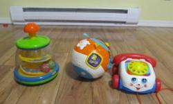 3. Baby toys good condition $15 for all 3