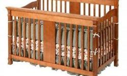 Great condition Kids are big and we don't need the crib Mattress included This crib is not part of a recall Converts to double bed We do not have the rails for the conversion Able to adjust height on mattress with this crib