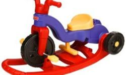 3 in 1 Fisher Price Trike 3-in-1 Trike Starts as a stationary rocker, with a flip of the rocker base it converts to a trike with a parent-assist handle, and then by removing the base it converts again to a stand alone trike Rocker base converts to an