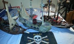 Three large Lego pirate ships in good condition. Rebuilt to look almost new. Bags of accessories include: boats, platforms, planks, weapons, treasure etc. Will sell separately for $20 each or all three ships for $50. Great fun for little boys!