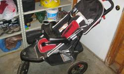 This stroller has been barely used. It is collapsable for easy transport. It has a 5 point harness, canopy, tray and basket underneath. Purchased new for $120.00. Email or call 780-831-6304. I can deliver to Grande Prairie.