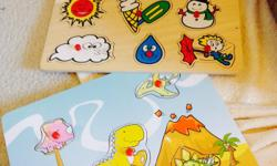 classic wood - 5 dino classic wood - 9 pcs classic wood- 9 pcs farm animals - not pictured $12 for all three non smoking home